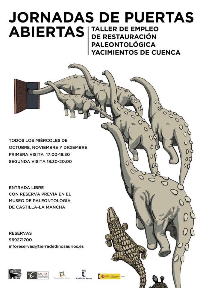 """""""JORNADAS DE PUERTAS ABIERTAS"""" en el taller de restauración paleontológica de Yacimientos de Cuenca"""
